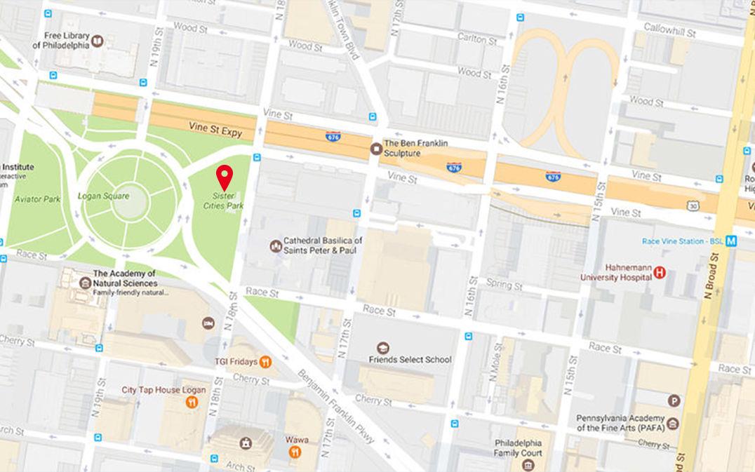 CCD Parks Sister Cities Park - Philadelphia university map