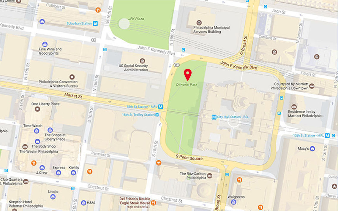 CCD Parks Dilworth Park - Map of philadelphia area and suburbs